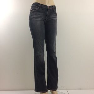 "AG Jeans ""Angel"" 30R Premium Denim Blk Fade Wash"